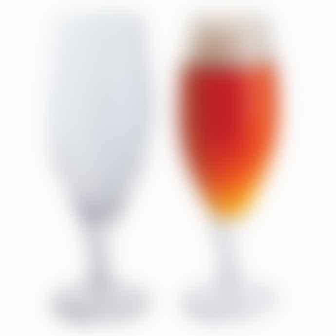 Dartington Crystal Set of 2 Continental Half Pint Lager Beer Glasses