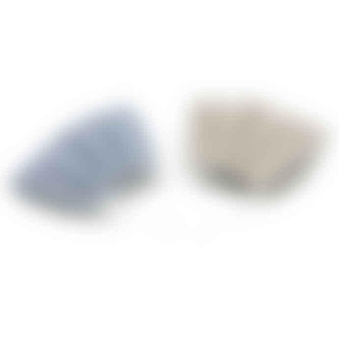 Set of 2 Barrier Mask Blue/Beige