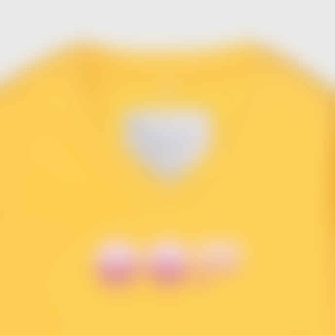 OOF Wear Cotton Sweatshirt with V Neck in Yellow