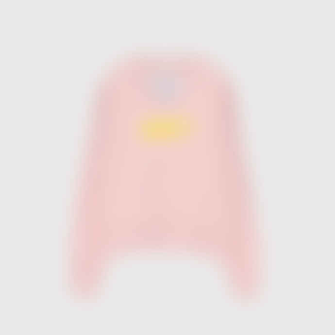 OOF Wear Cotton Sweatshirt with V Neck in Rose
