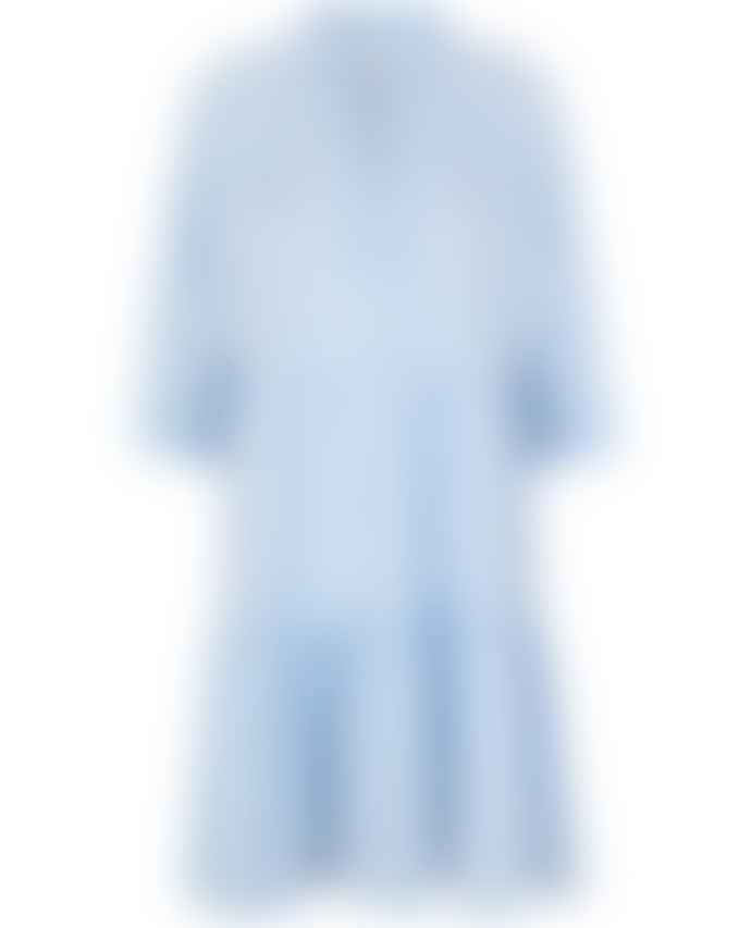 Second Female Amira Blue Pinstripe Dress
