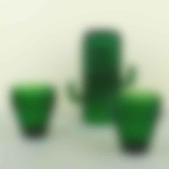 DOIY Design Saguaro Cactus Glasses X 6 Green