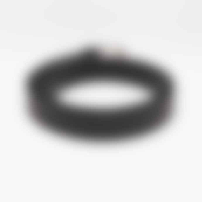ATHISON Leather Tubular Belt - Black