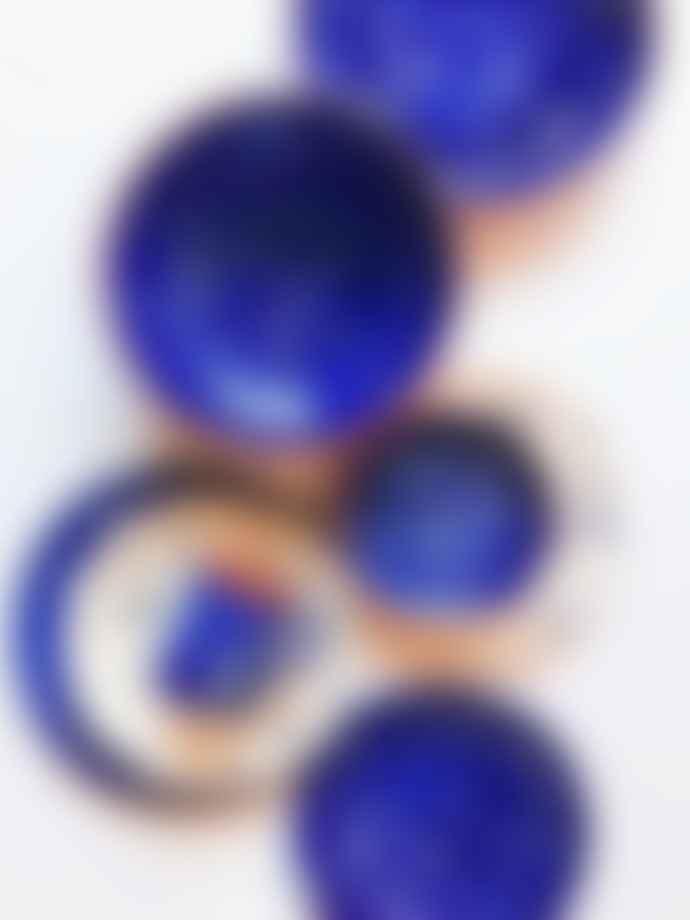 Casa Cubista Salpico Plate Blue and White