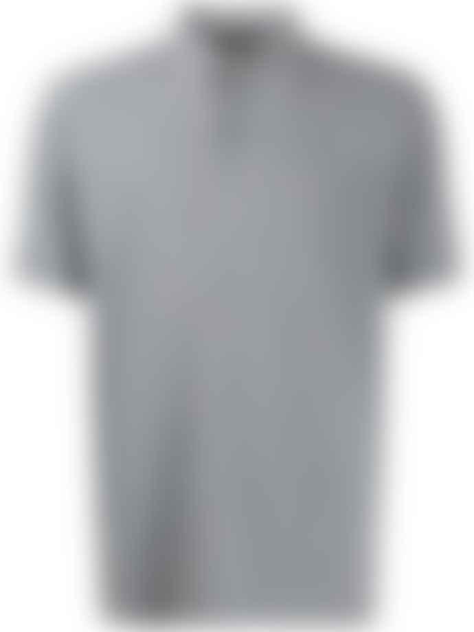 Z Zegna Grey Stretch Cotton Polo Shirt