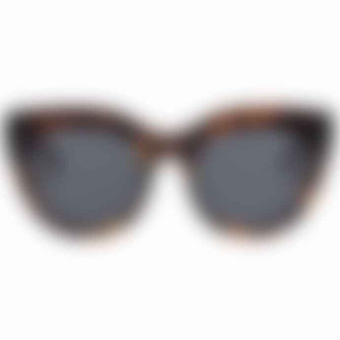 Le Specs Air Heart Tortoise Cat Eye Sunglasses
