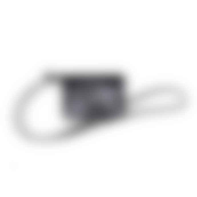 Craie Round Neck Leather Pouch Addition Black