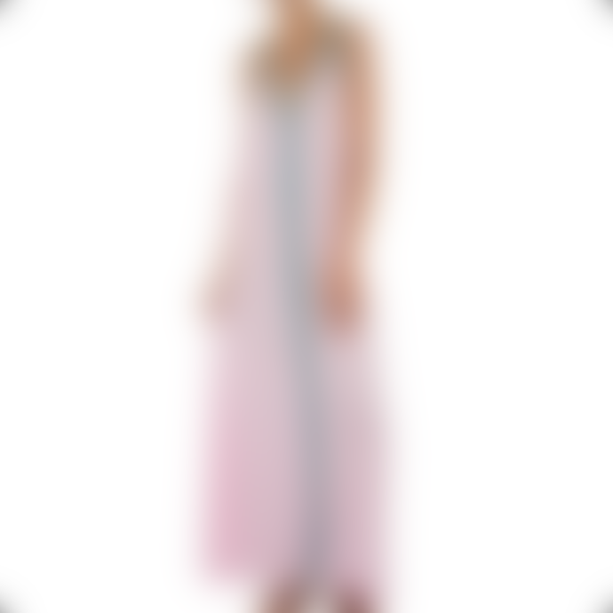 Pitusa Pale Pink With Blue Braid Pima Sundress