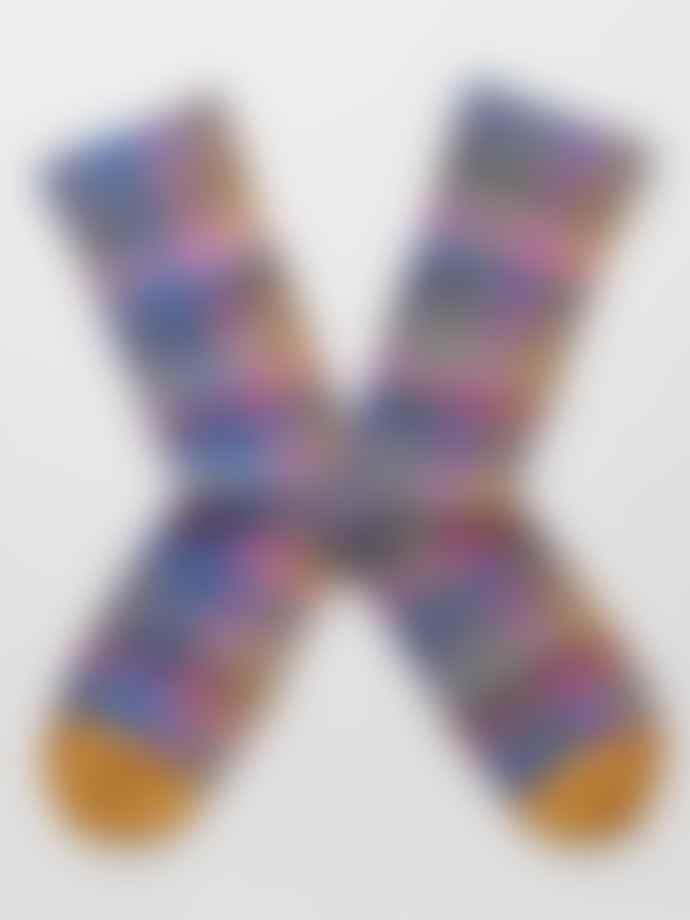 Bonne Maison Check Socks In Multi