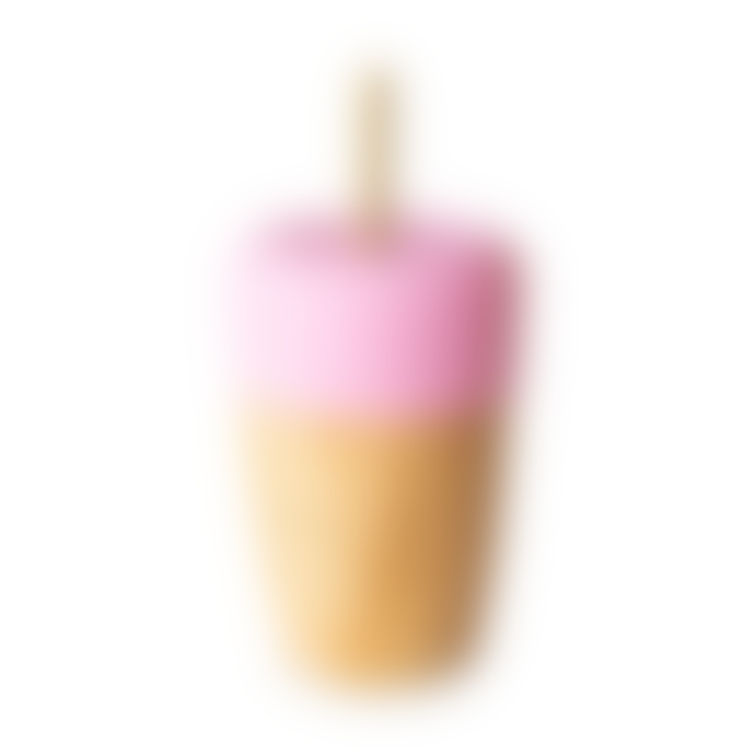 Eco Rascals 240 ml Bamboo Cup + 2 Bamboo Straws Pink