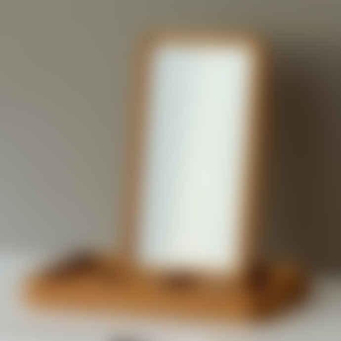 Spring Copenhagen Mirror Jewellery Box in Solid Oak with 4 Compartments