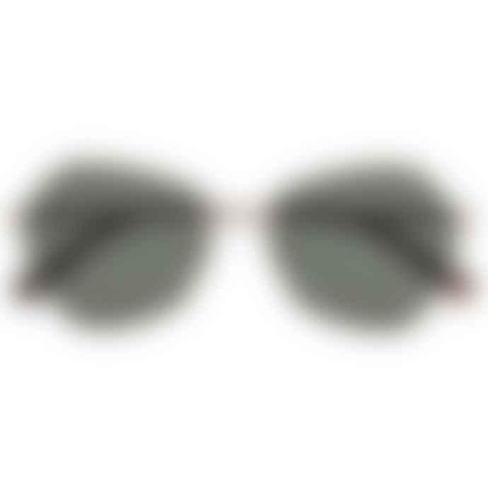 Le Specs Escadrille/ bright gold w/ khaki mono lens /Womens Glasses