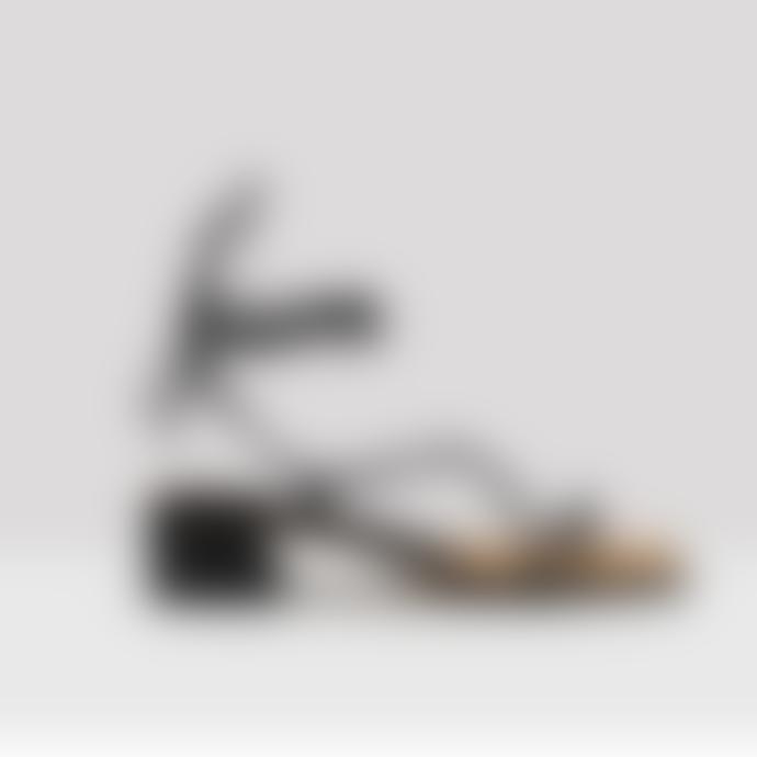 Miista Black Nappa Leather Cimarron Sandals