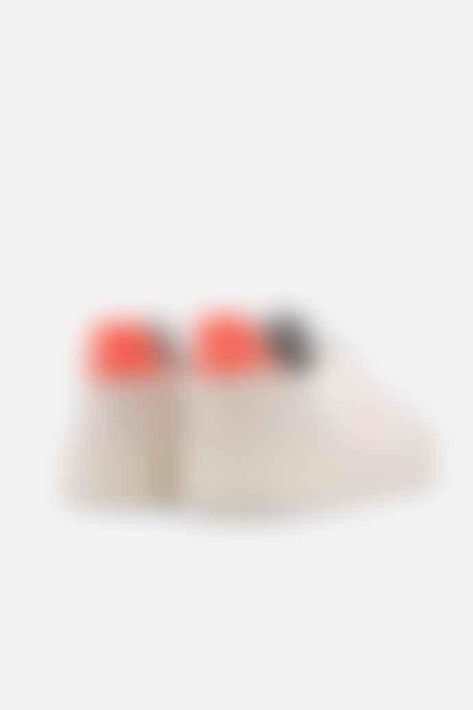 Veja V 10 B Mesh White Petale Orange Womens
