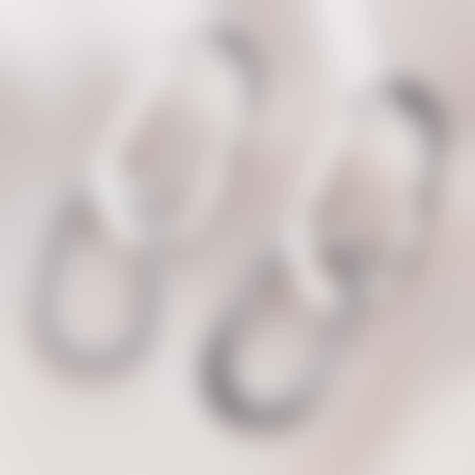 Posh Totty Designs Silver Organic Hammered Double Hoop Stud Earrings