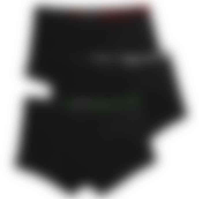 Emporio Armani  Emporio Armani 3 Pack Stretch Trunks Black