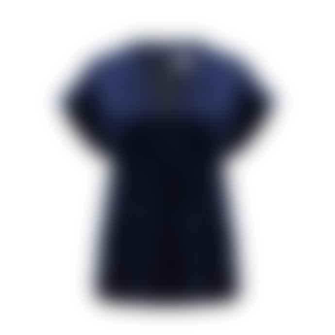 Dante6 Navy Short Sleeve Velvet Top
