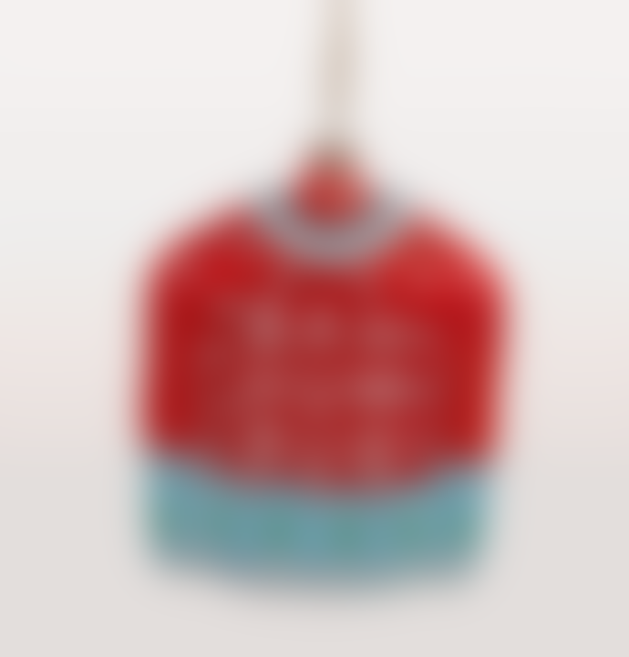 Cody Foster & Co Red Bar Hum Bug Jumper Christmas Decoration