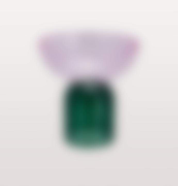 Pulpo Pink And Smoke Green Glass