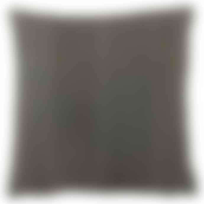 Persora Furn Mushroom Grey Velvet Cushion