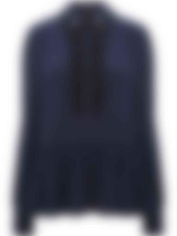 Markus Lupfer Navy and Black Sequin Planet Blouse