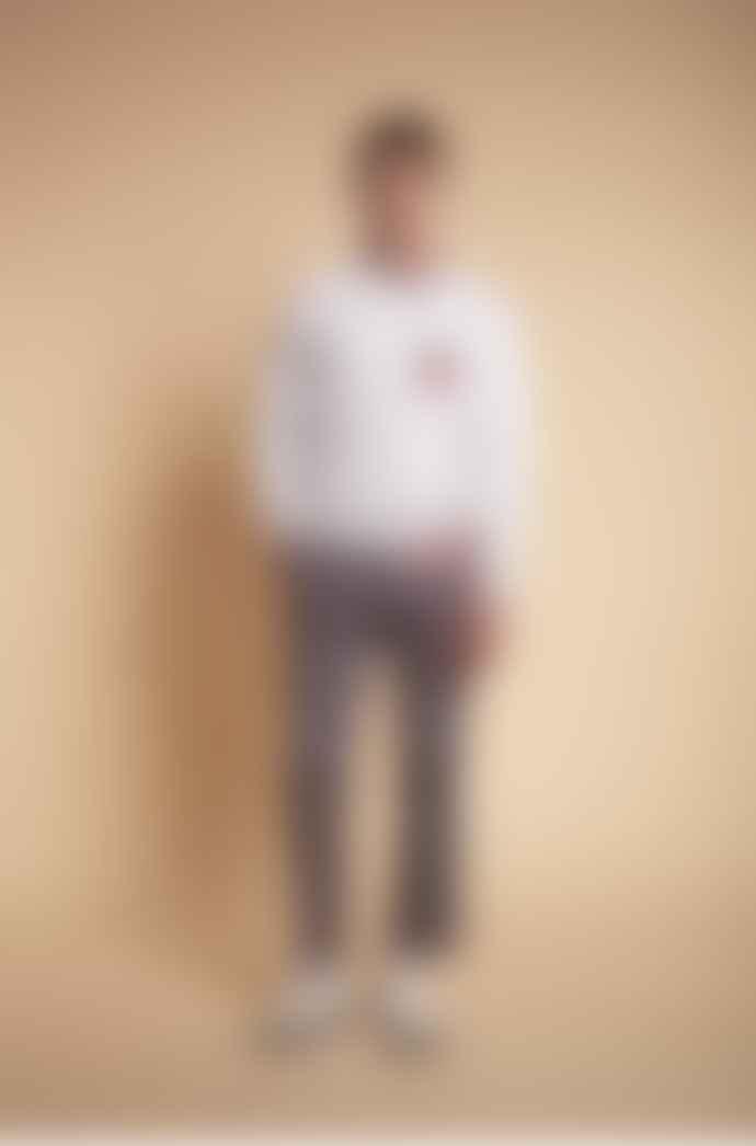 JJ Emlyn White Cotton Sweatshirt