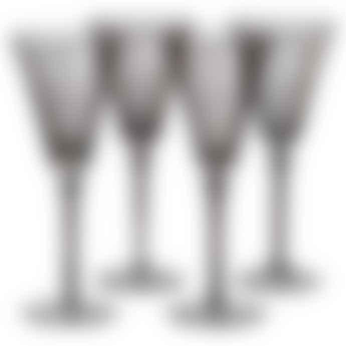 Single Smoky White Wine Glasses