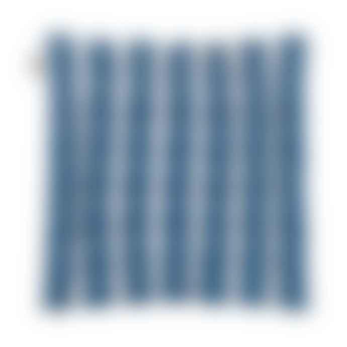 Linum Blue Wide Stripe Seat Cushion