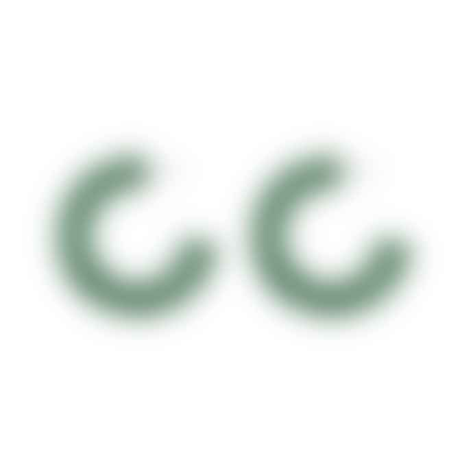 Big Metal Petra Matte Resin Large Hoop Earrings Emerald Green