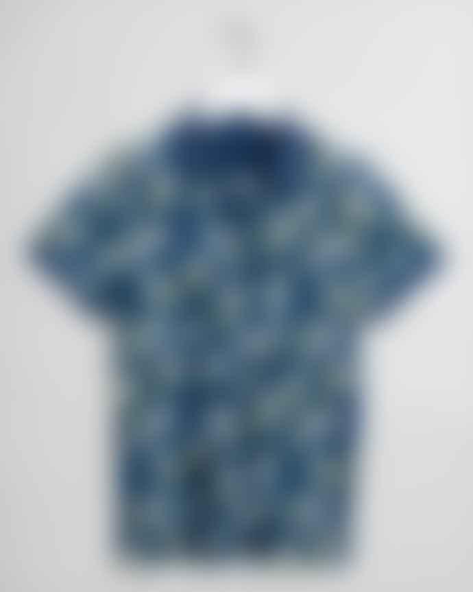 Gant Lemon Flower Polo Shirt Navy