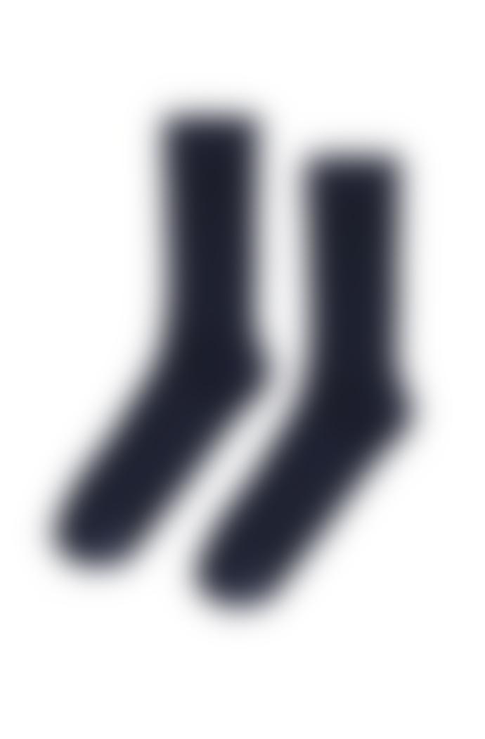 Colorful Standard Chaussettes Hautes Marines En Coton Bio Navy Blue