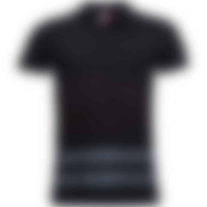 Arnold & Co Black Rossignol Stripes Polo