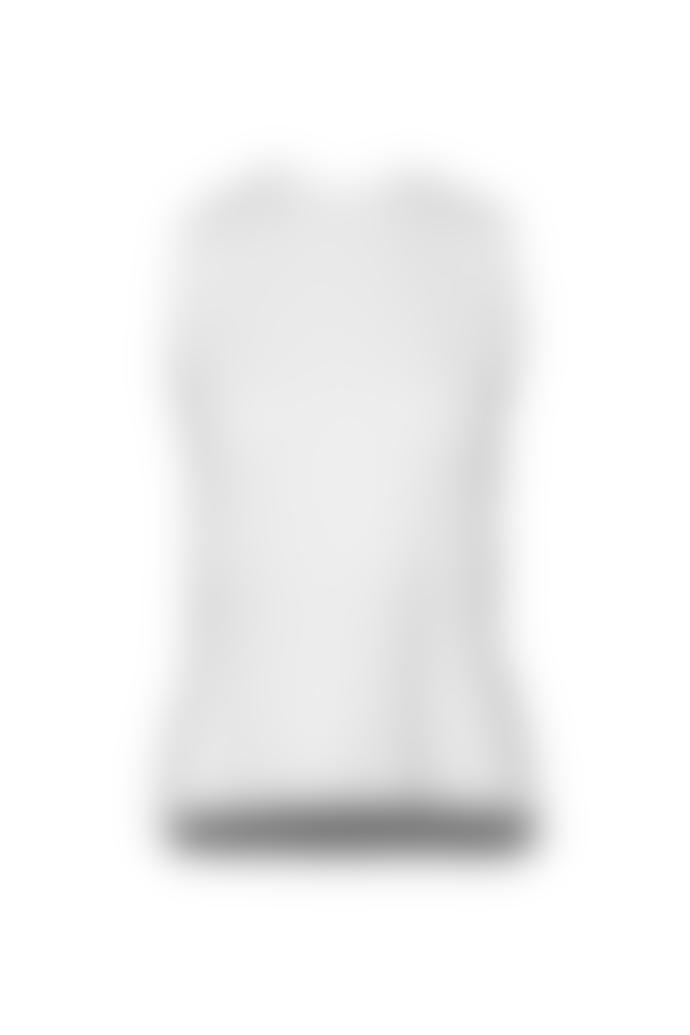 Cathrine Hammel Twinset Sleeveless Top White Merino Wool