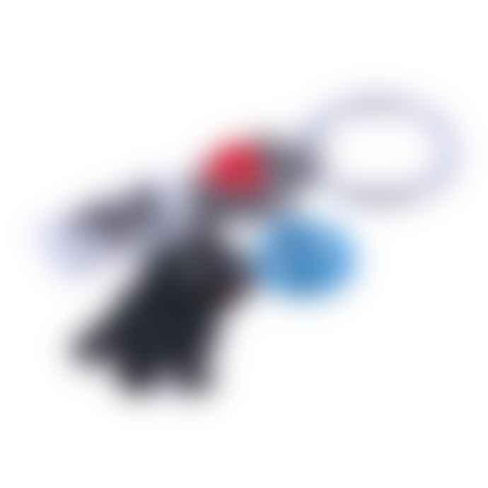 Black Pug Peace Love Key Chain