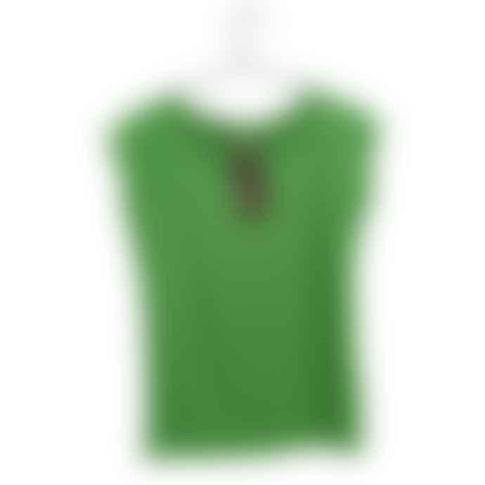 Liebling Malmo Green Organic Cotton Raglan Cap Sleeve T Shirt
