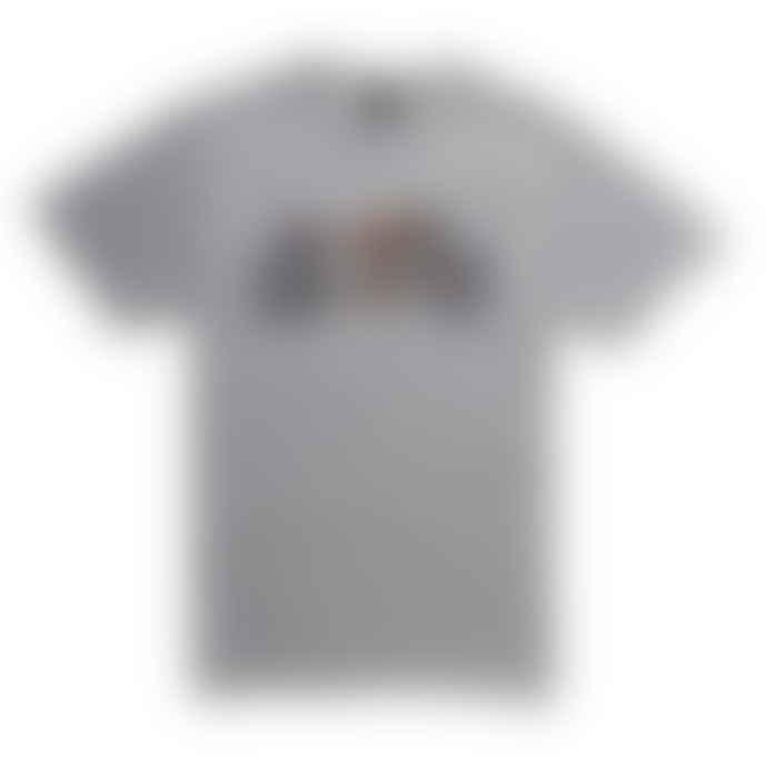 Deus Ex Machina Liquid Tee Shirt Grey Marle