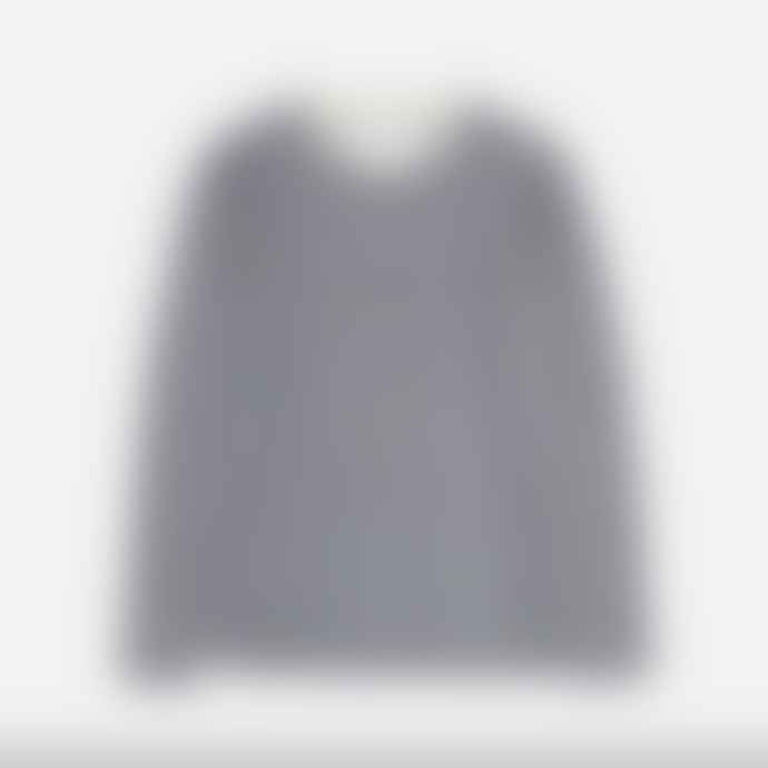 Makia Clothing Makia Algot L S Tee Shirt Navy White