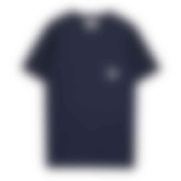 Makia Clothing Navy Makia Square Pocket Tee Shirt
