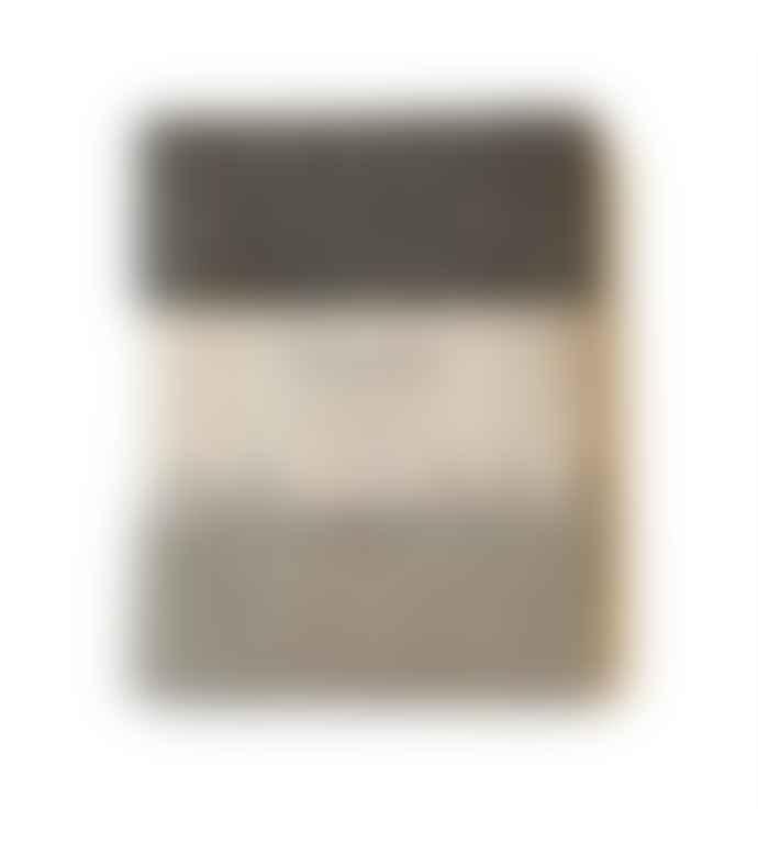 Vaxbo Lin Black Linen Bath Mat