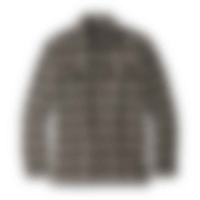 Patagonia Long Sleeved Fjord Flannel Shirt Migration Plaid Small Black Misb