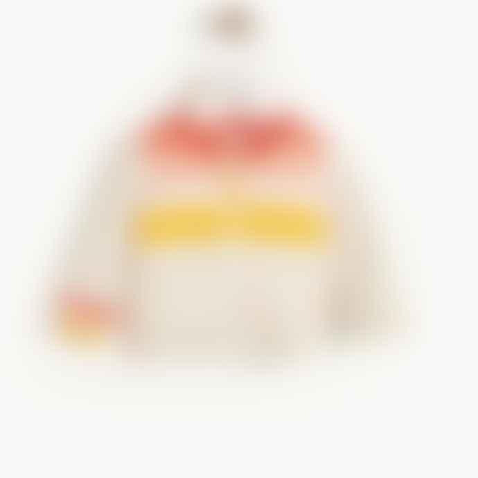 The Bonnie Mob Amalfi Baby Striped Cardigan Peach