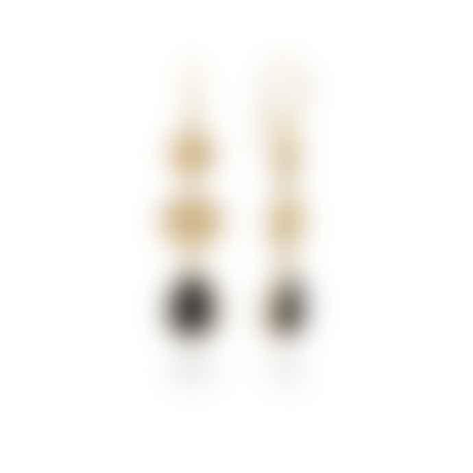 Anna Beck Triple Drop Hypersthene Earrings