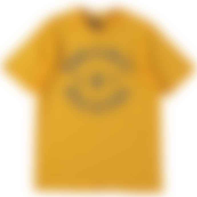 Standard Reference Materials Srm Dynamic Rockers Flock Logo Tee Gold Charcoal