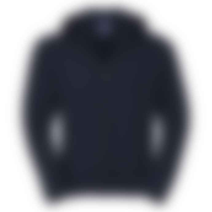 Russell Authentic Zip Up Hooded Sweatshirt Navy