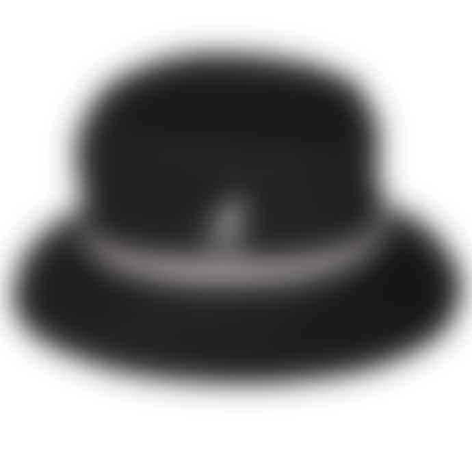 Kangol Stripe Lahinch Bucket Hat Black