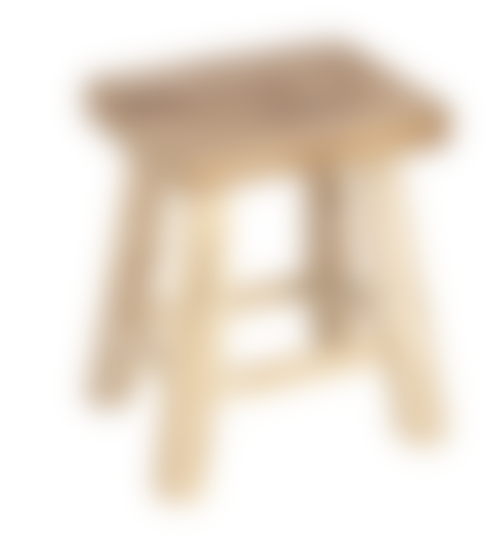 Dröm Collection Low Wooden Stool in Natural Colour