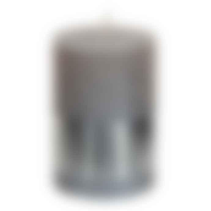 PTMD Metallic Taupe Pillar Candle 10x7cm