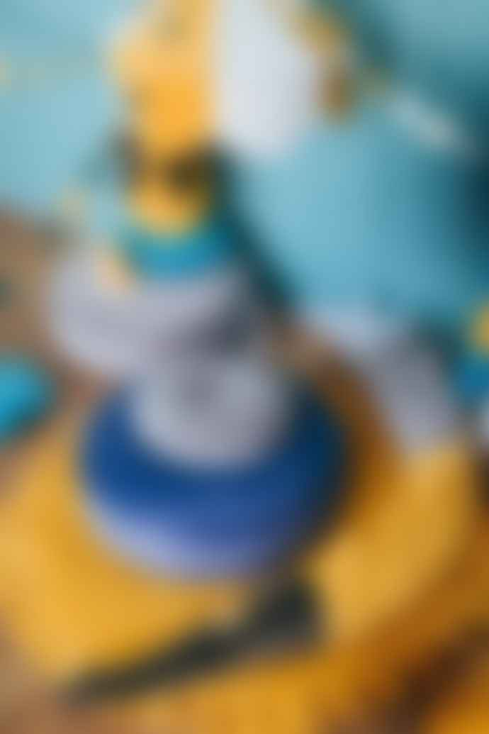 wigiwama Deep Blue Velvet Ruffle Playmat