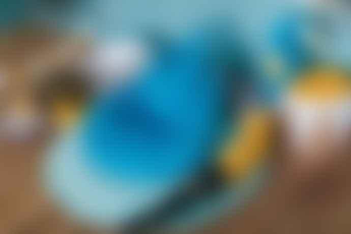 wigiwama Petrol Blue Velvet Bunny Bean Bag