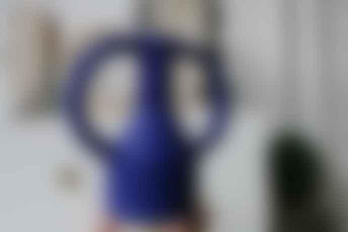 Sophie Alda Jug Eared Vase In Cobalt Midi